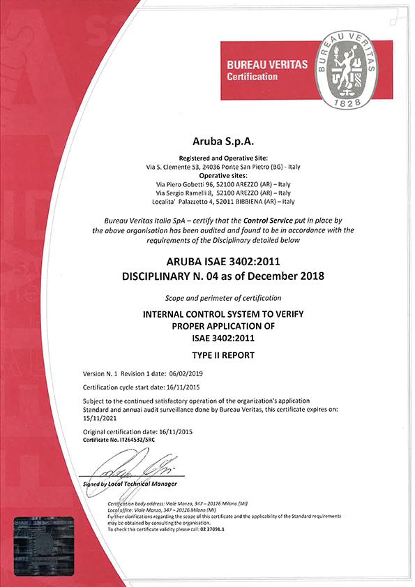 Certifications Iso Isae Ansitia Go Aruba